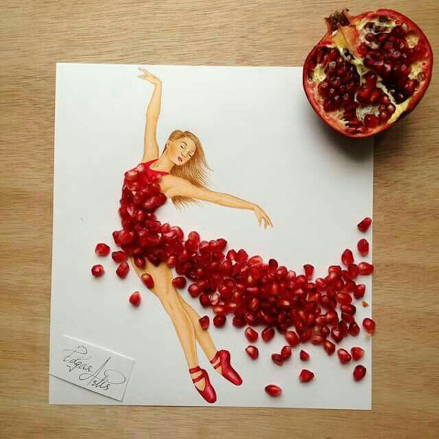 pomegranet dress