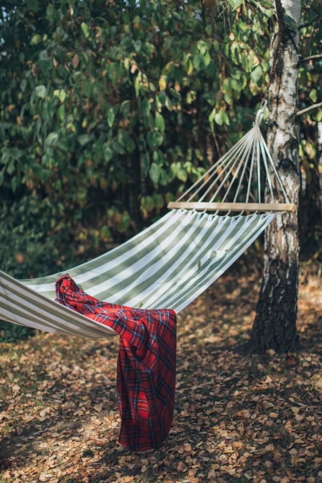red-and-black-plaid-blanket-on-hammock-3099623